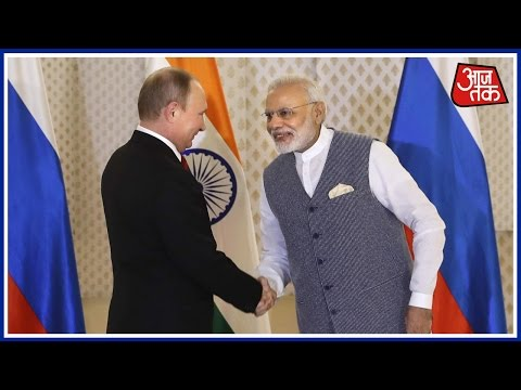 PM Modi Shakes Hand With Russian President Vladimir Putin At BRICS Summit In Goa