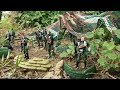 Toy soldiers Army men base camp Military toys for children