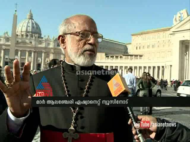Cardinal George Alencherry in Vatican: speaks on canonization