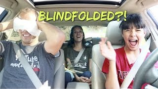 KLAI DRIVING with BLINDFOLDED DAD!