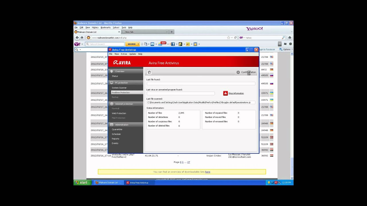 Avira Free AntiVirus Virus/Malware Test + Review (WEBSITE DOWN)
