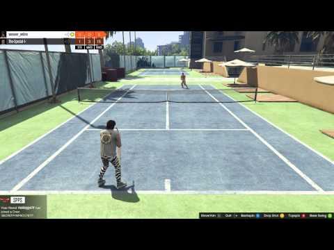 Playing Tennis - GTA 5 Online