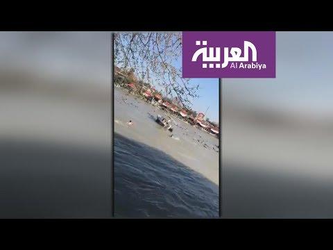 شاهد أول لقطات حية لمحاولة انقاذ ضحايا العبارة الغارقة بنهر دجلة.. 5 قتلى حتى الآن  - نشر قبل 1 ساعة