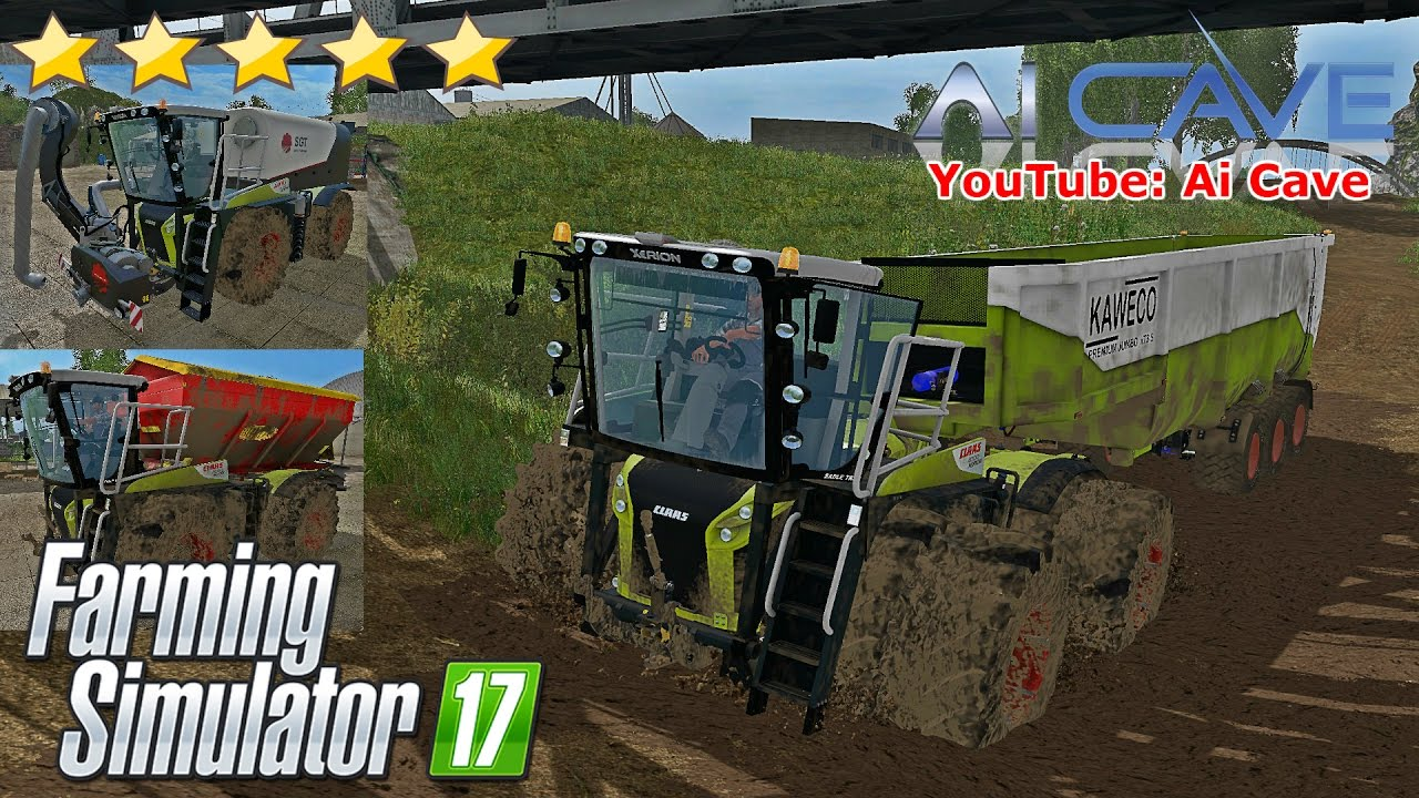 Farming Simulator 17 CLAAS XERION 4000 ST Tractor Mods ...