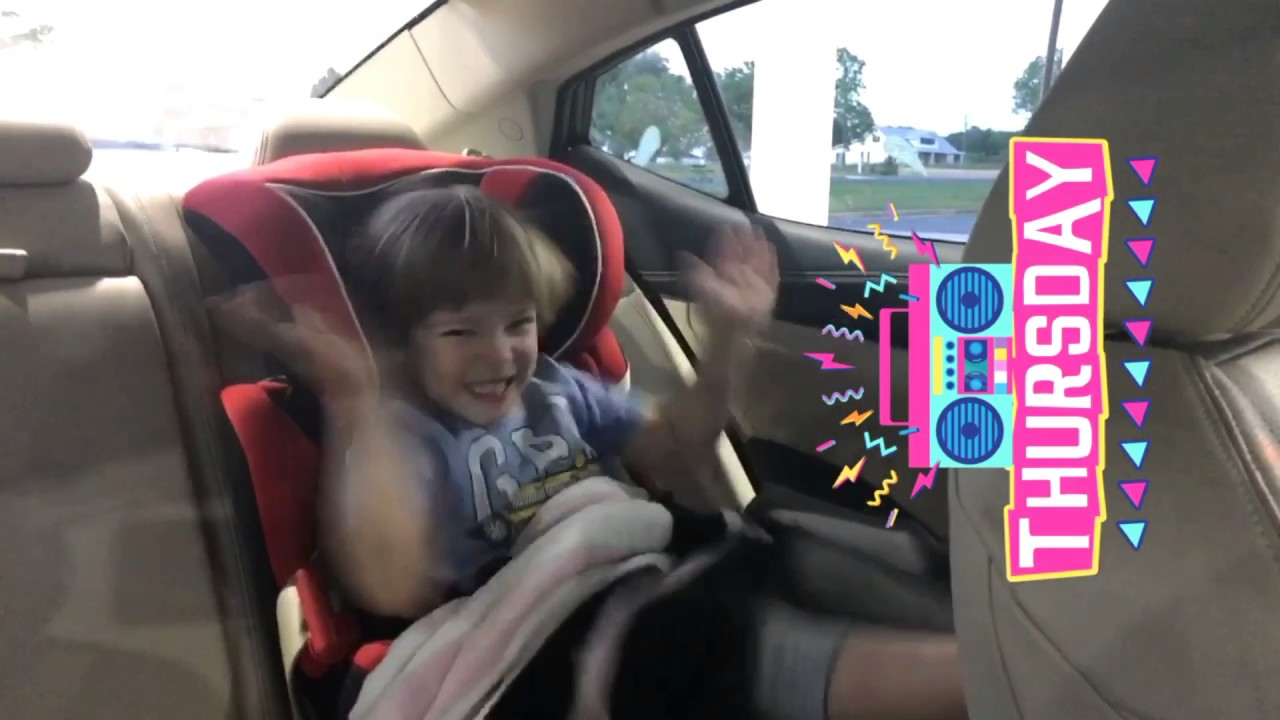 Kid dancing in the car seat Latino Perfect Thursday