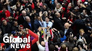 Canada Election: Justin Trudeau holds rally in Vancouver