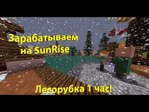 Зарабатываем деньги на SunRise| Сколько можно заработать на лесорубке за час на сервере SunRise