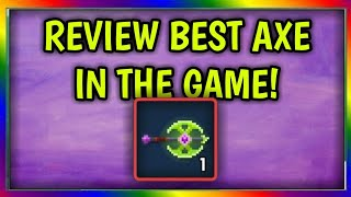 "Pixel Worlds - ""Review"" Best Axe In The Game!! OMFG😱😱"