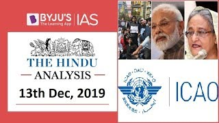 'The Hindu' Analysis for 13th December, 2019 (Current Affairs for UPSC/IAS)