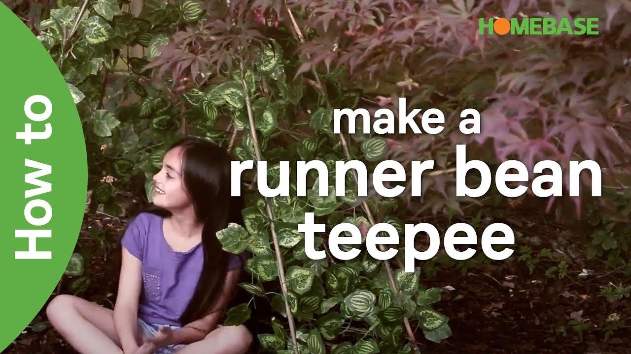 How to make a runner bean teepee   kids gardening ideas   Homebase ...