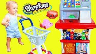 Kids TOY STORE Pretend Play Store Cash Register & Halloween Treats DIY Ideas