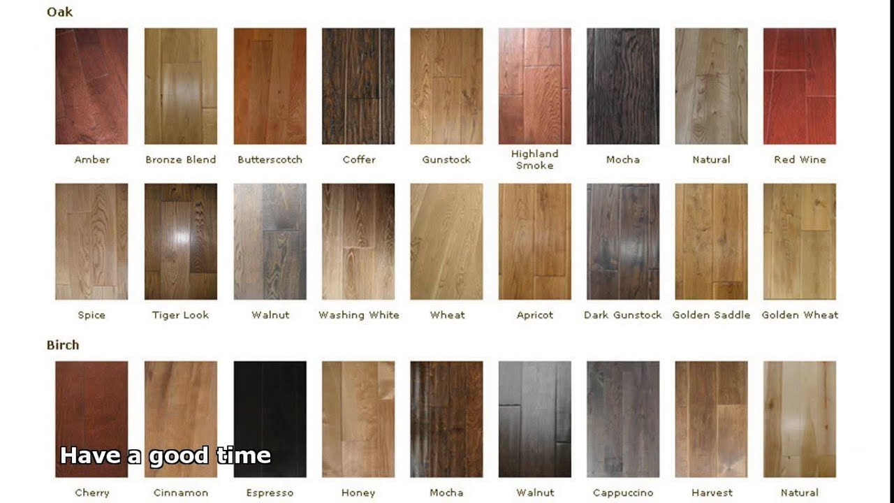 Hardwood Flooring Colors Youtube