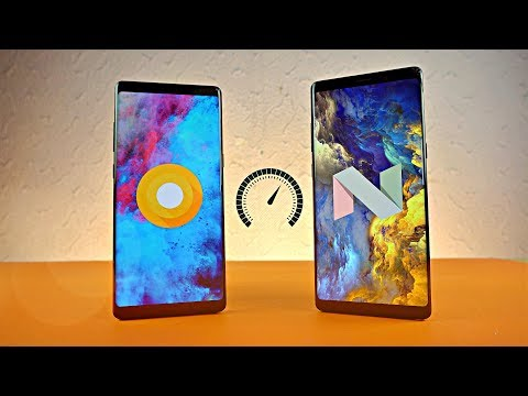 Samsung Galaxy Note 8 Android 8.0 Oreo vs Android 7.1 Nougat - Speed Test!