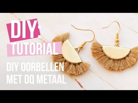 Sieraden maken: DIY oorbellen met DQ metaal en kwastjes ♡ DIY