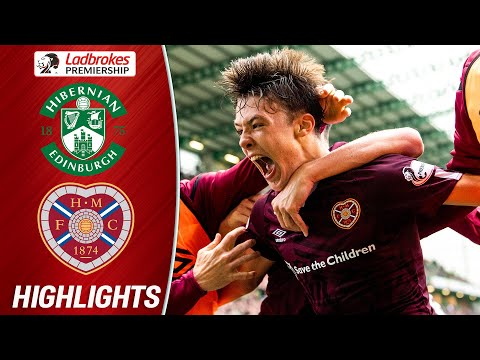 Hibernian 1-2 Hearts   Late Hickey Goal Wins Edinburgh Derby!   Ladbrokes Premiership