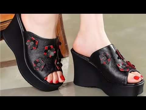 NEW DAILYWEAR SANDAL SHOES  LEATHER DESIGN WOMEN FORMAL SHOES SANDALS BRANDED COLLECTION