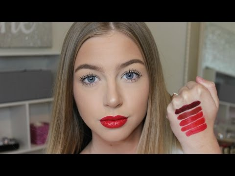 Top 5 Red Lipsticks At The Drugstore!