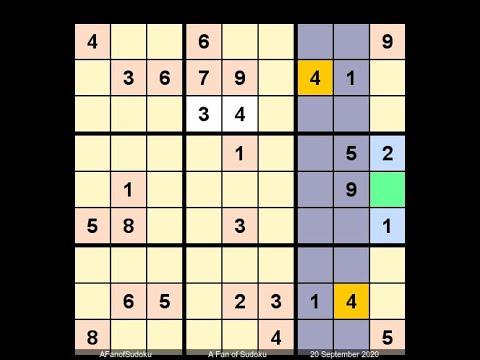 How to Solve The Toronto Star Sudoku September 20, 2020