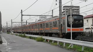 武蔵野線205系(メルヘン顔)ジャカルタ配給 EF81形牽引 高崎線桶川駅付近通過