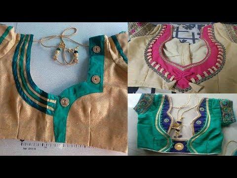 Latest Easy Street Tailoring Designer Back neck Blouse Designs for Saree