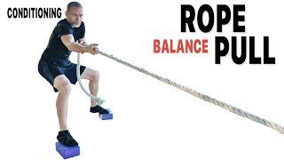 Rope Pulls Balance Conditioning—Core JKD Yoga Block Exercises