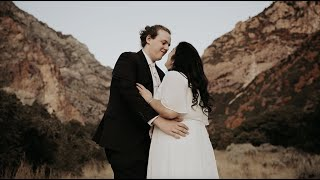 Surprise First Look! Bride's Brother Wears a Wedding Dress | Cody & Mia | Autumn Utah First Look
