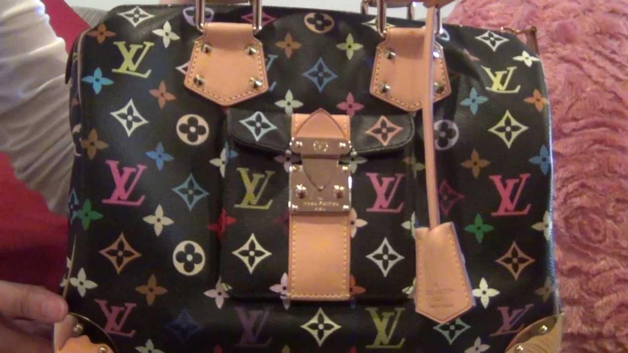 55b282301f4b My Louis Vuitton Collection Part 17--Black Monogram Multicolor Speedy 30 -  YouTube
