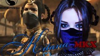Kitana Prime the Princess from Mortal Kombat X makeup tutorial by nathalie