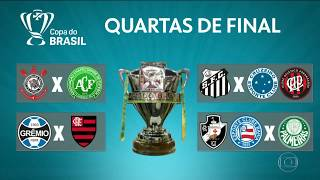 DEFINIDOS os CONFRONTOS das QUARTAS DE FINAL da Copa do Brasil