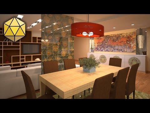 Васту дизайн интерьера квартиры «Китайский стиль»