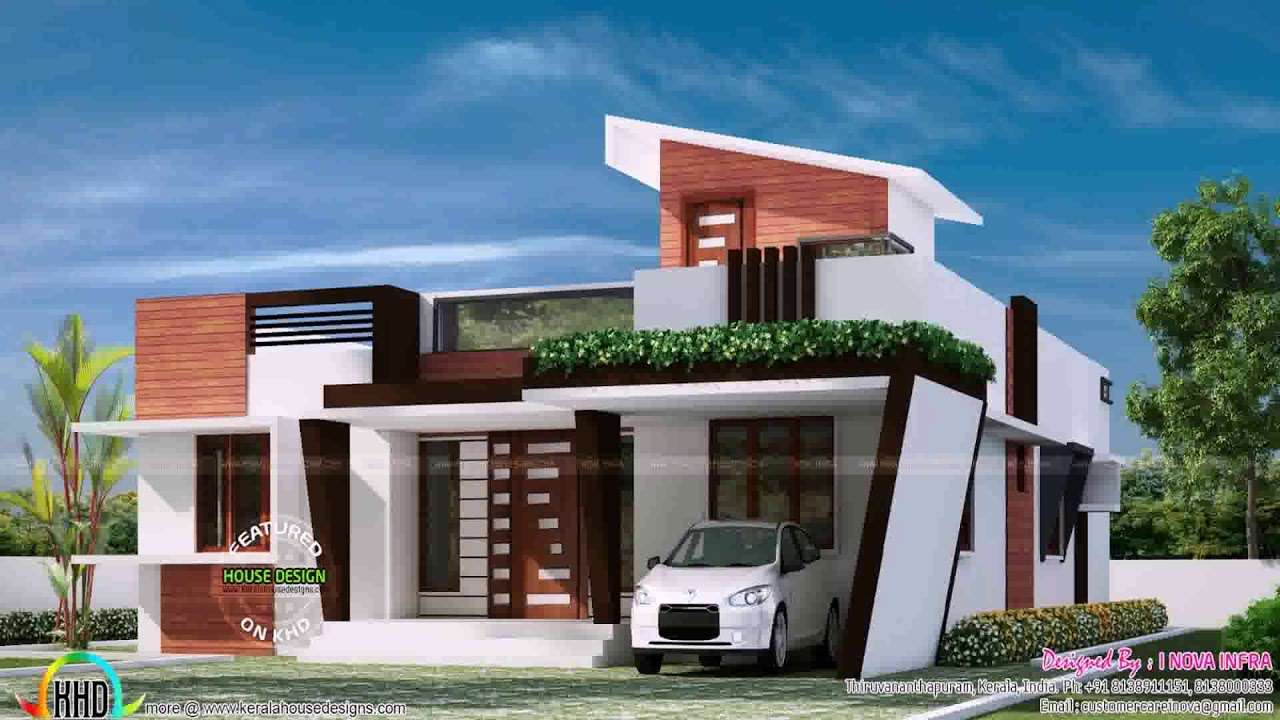 Contemporary Single Floor House Plans Kerala - Gif Maker ...