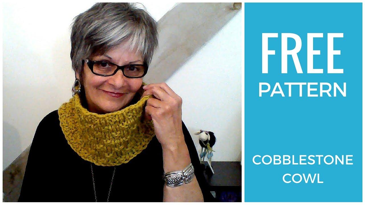 Cobblestone Cowl Free Knitting Pattern - YouTube