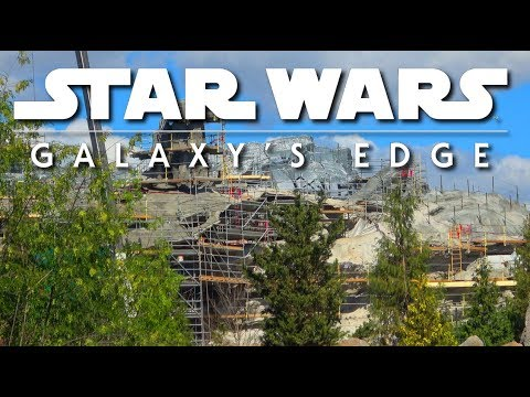 I see a real Mountain - Galaxys Edge Construction Update - Pt. 137 | 03-17-18