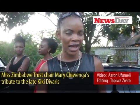 Miss Zimbabwe Trust chair Mary Chiwenga tribute to Divaris