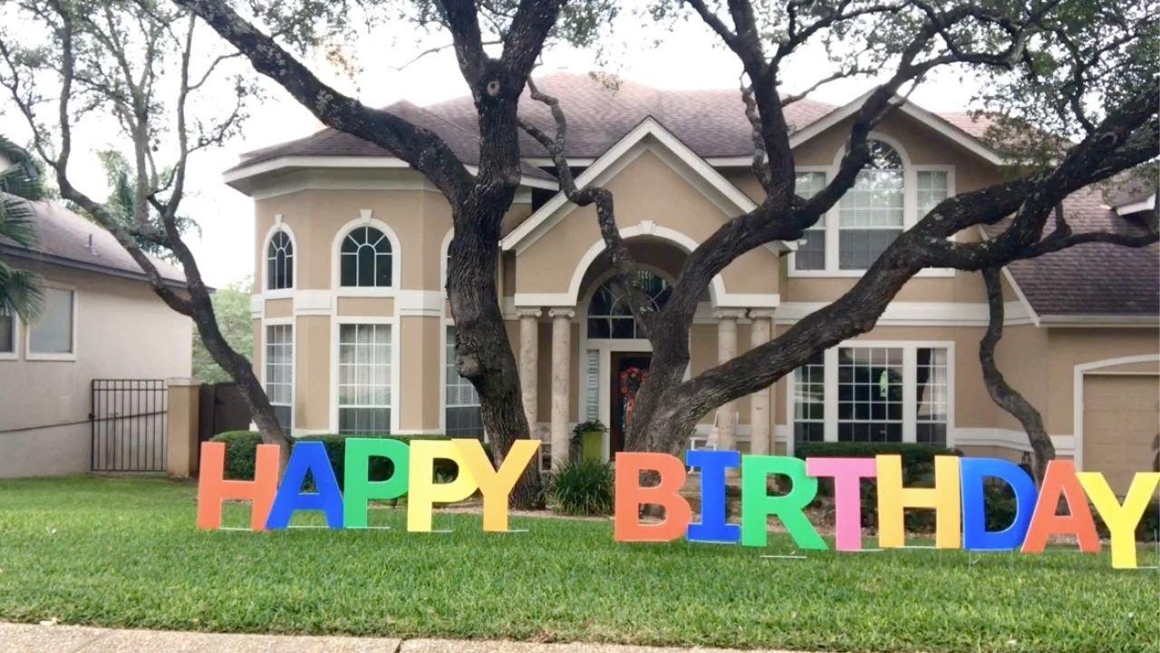 Happy Birthday Yard Letters Youtube