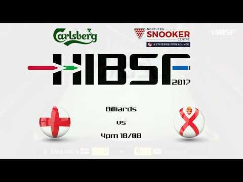 HIBSF Live Stream 2017 - Billiards Ryan Davies (England B) v Richard de la Haye (Jersey B)