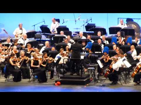 The Simpsons Take The Bowl - Alf Clausen Medley Señor Burns (Hollywood Bowl, Los Angeles CA 9/14/14)