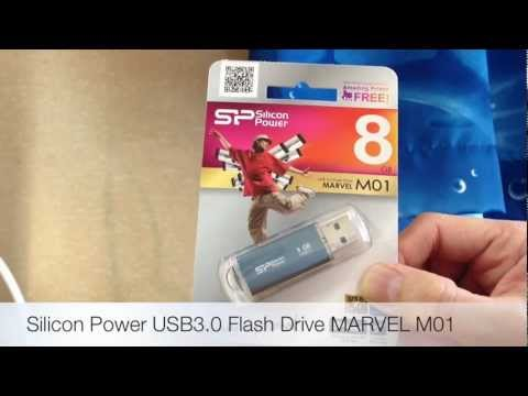 Silicon Power USB3.0 Flash Drive MARVEL M01 unboxing