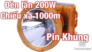 Đèn Pin Đội Đầu Siêu Sáng K25 200W | Đèn Lặn Chiếu Xa 1000M | Đèn Soi Nấm Mối