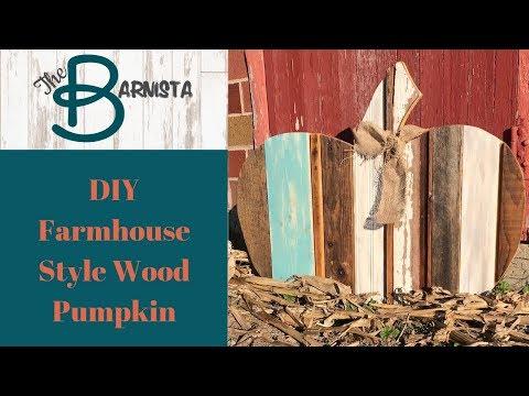 DIY Farmhouse Style Decor | Fall Decor | Reclaimed Wood Pumpkin