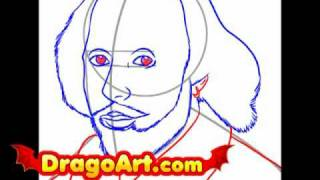How to draw Shakespeare, step by step