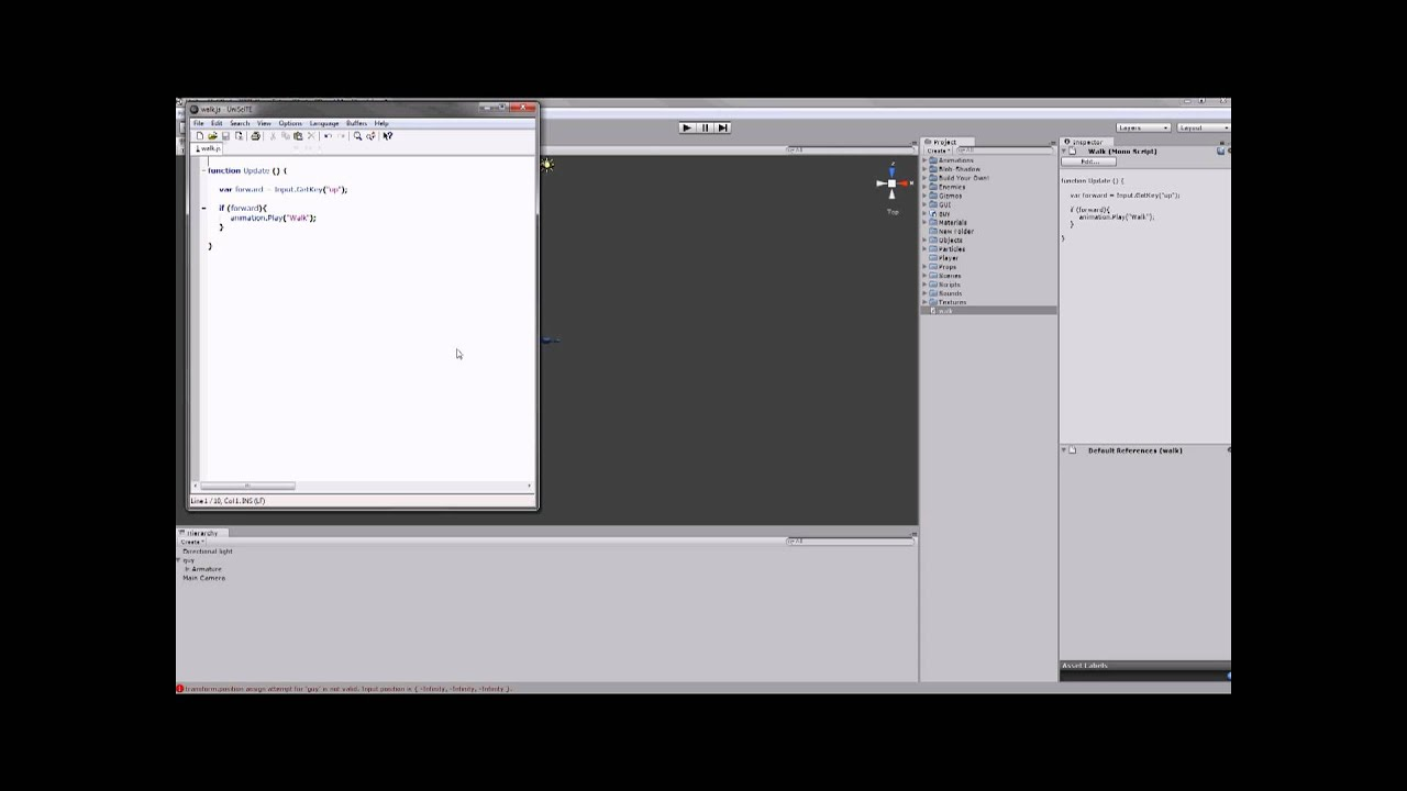how to add javascript to unity