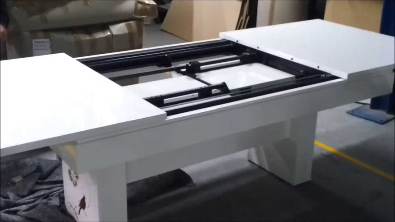 dining table automated extensible mechanism youtube