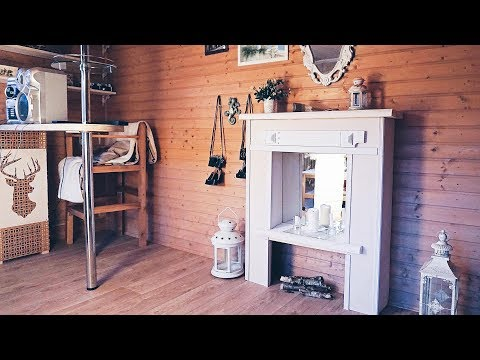 Фальш камин своими руками в гостиную. Декоративный камин и окраска старого зеркала.