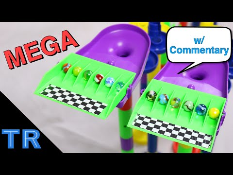 MEGA ELIMINATION Side-by-Side Marble Race w/ 12 Marbles | Toy Racing