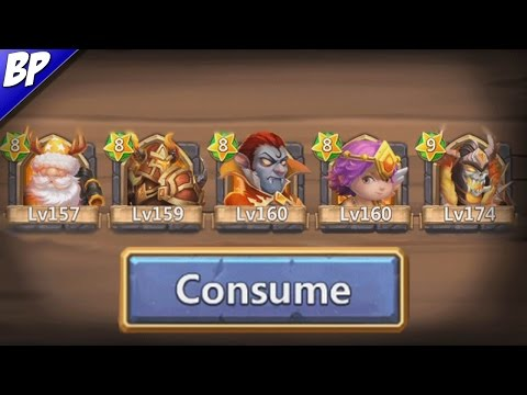 Castle Clash Consuming Evolved Heroes!