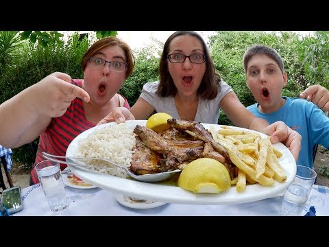 Greek Food On Greek Soil | Gay Family Mukbang (먹방) - Eating