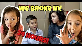 24 HOURS in SHOT OF THE YEAGERS BoxFort Maze! WE BROKE INTO THEIR HOUSE! thumbnail