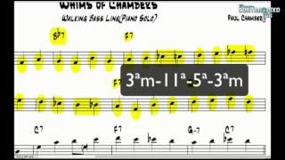 Vídeoaula Análise de Transcrição - 1 - Whims of Chambers (Walking Bass) - Lucas Fernandes