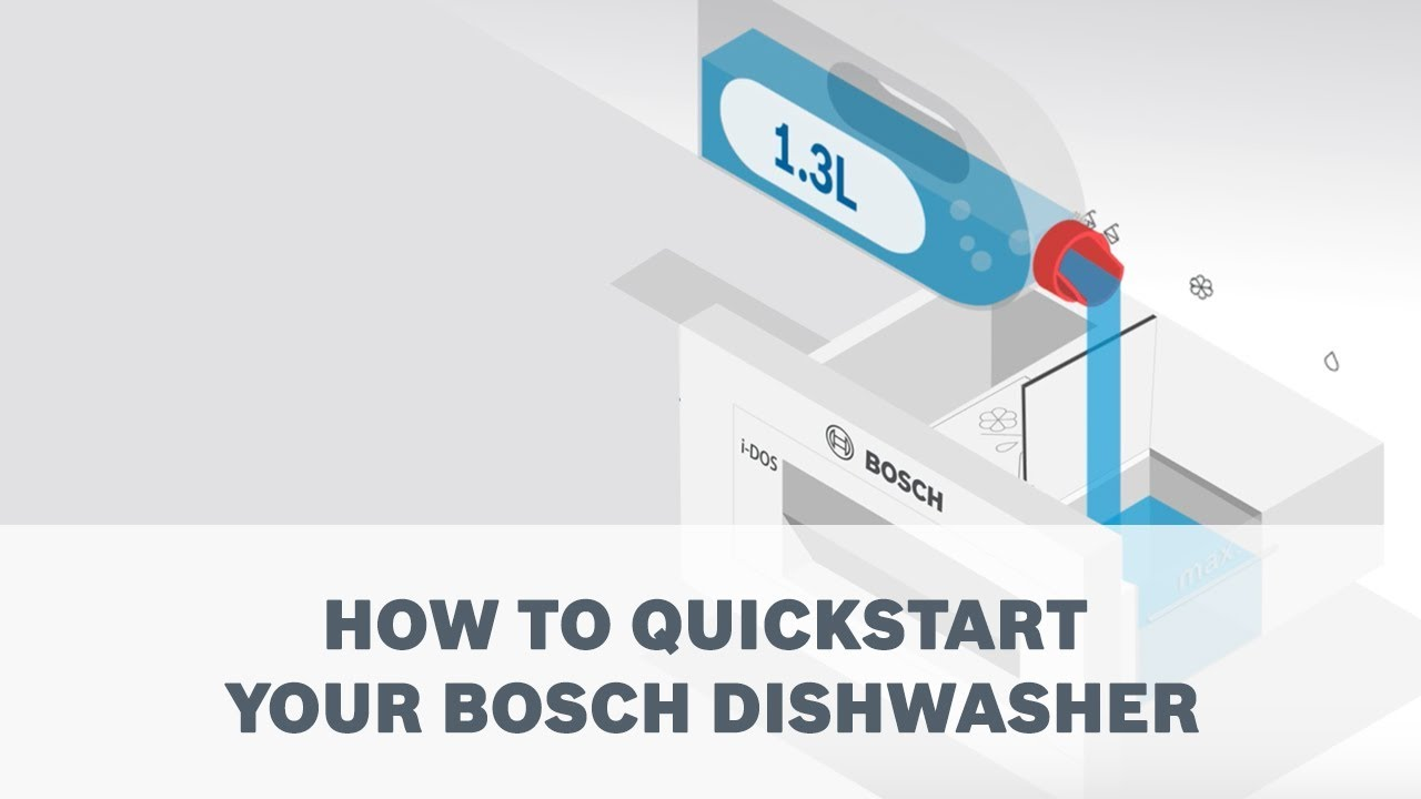 How to quickstart your Bosch Dishwasher